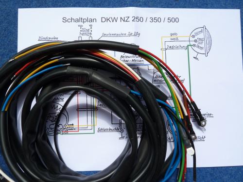 Schaltplan Kabelbaum DKW NZ 350